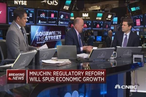 Cramer: Mnuchin speaks a more sophisticated language than most on Wall St.