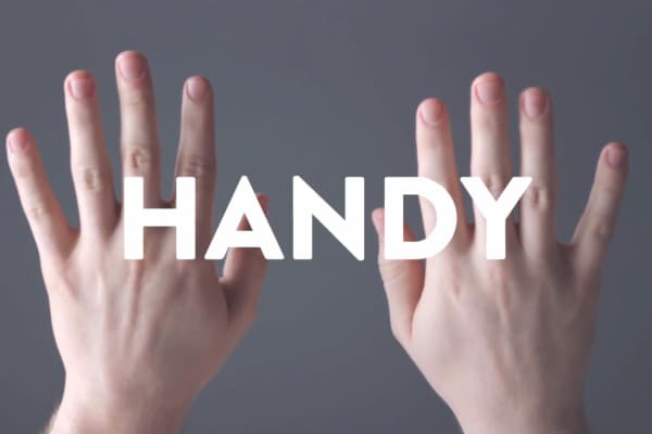 Comedy Centrals' Handy series features a hand model