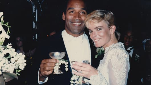 "O.J. Simpson and Nicole Brown Simpson, from ""O.J.: Made in America."""