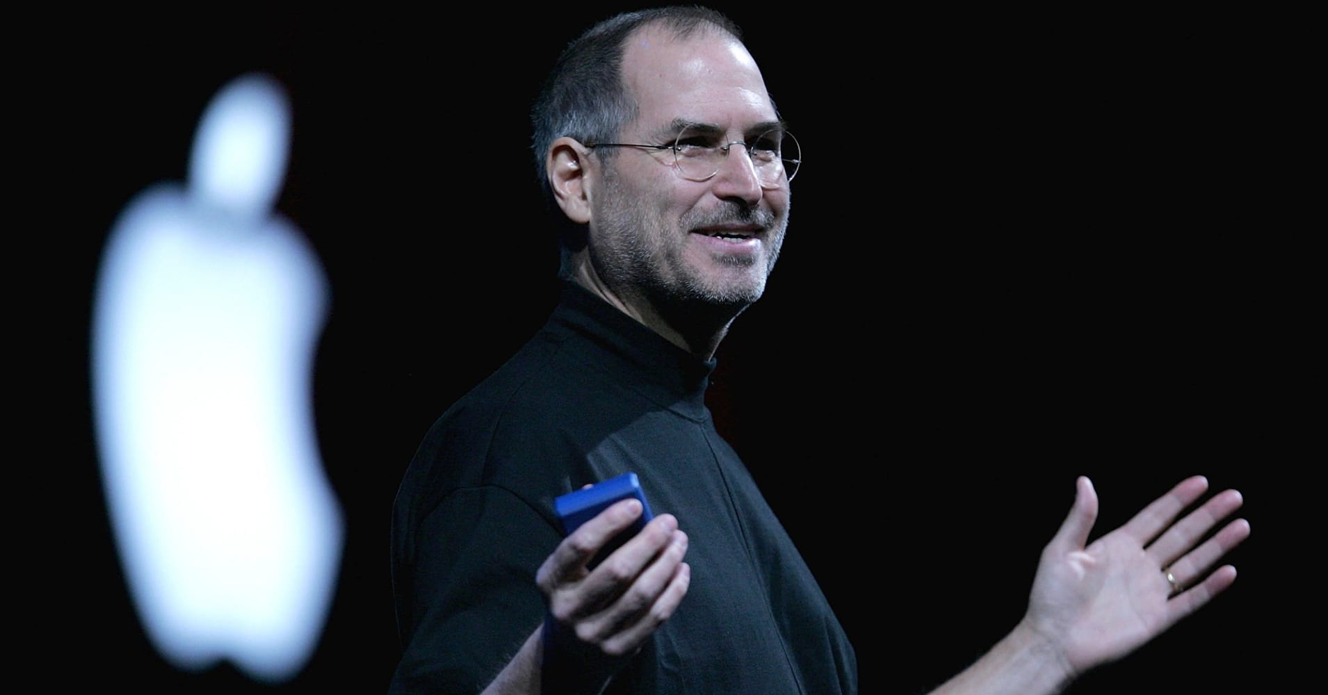 Apple CEO Steve Jobs delivers a keynote address at the 2005 Macworld Expo.