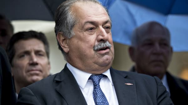 Andrew Liveris, chairman and chief executive officer of Dow Chemical