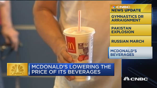 McDonald's lowers cost of beverages