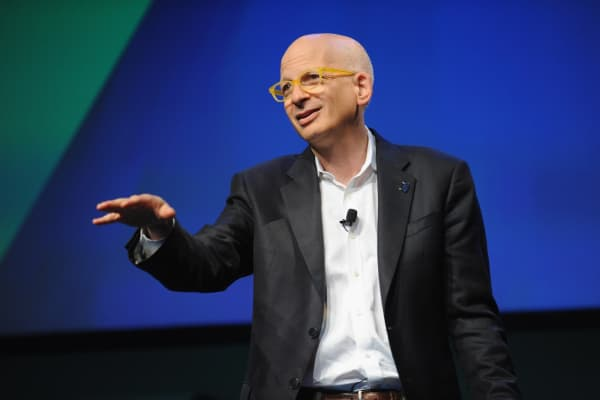 Seth Godin speaks onstage at the WIRED Business Conference.