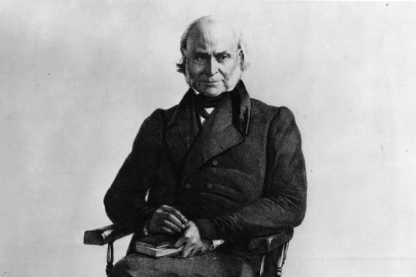 John Quincy Adams, the 6th President of the United States of America and the son of John Adams, the 2nd President of the United States.