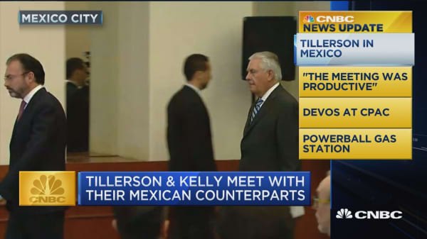 CNBC Update: Tillerson & Kelly meet with Mexican counterparts