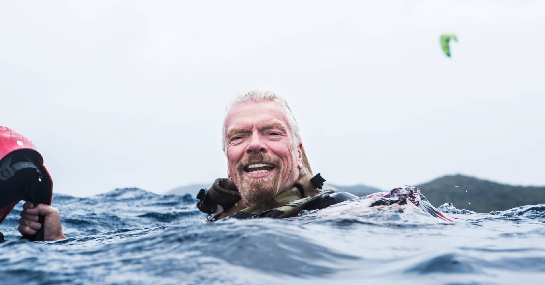 Richard Branson spends about six months out of the year on Necker Island