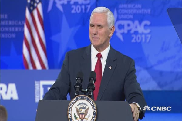 Mike Pence takes the stage at CPAC