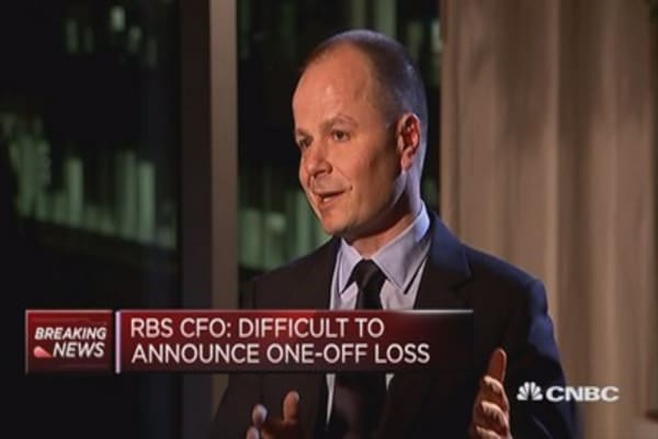 Difficult to announce this loss: RBS CFO