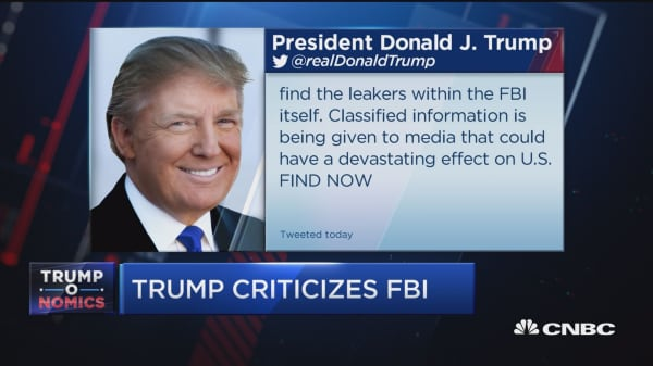 Trump aims to plug FBI leaks