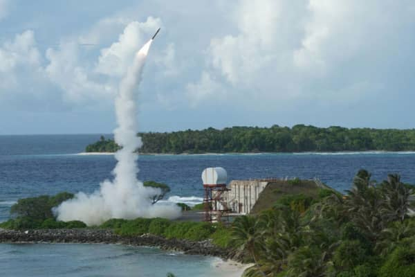 Terminal High-Altitude Area Defense (THAAD), an advanced missile system, is launched during a successful intercept test in the U.S. Pacific in 2013.