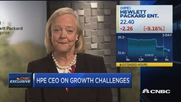 HPE's Whitman: Our business will grow in 2017