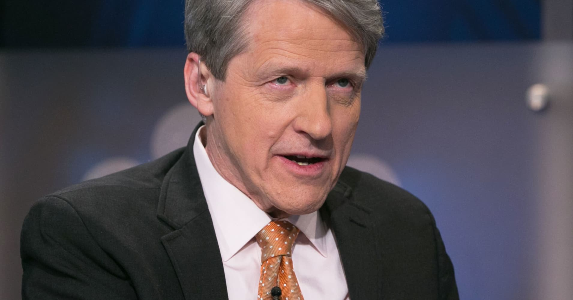 A solid earnings season won't be enough to avert another correction, economist Robert Shiller says
