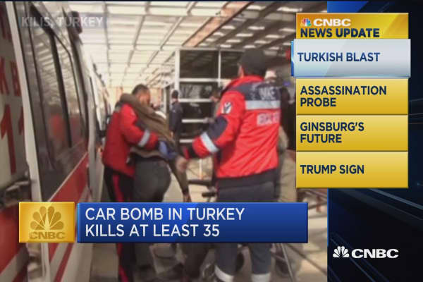 CNBC Update: Car bomb in Turkey kills at least 35
