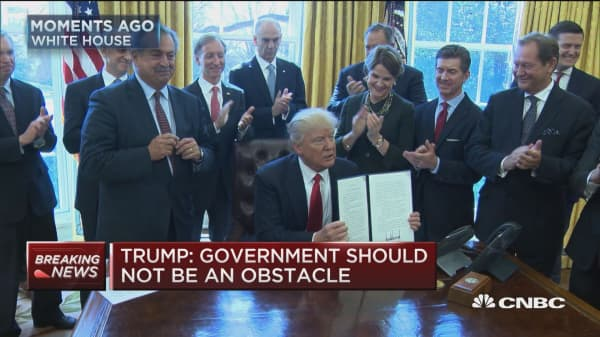 President Trump signs executive order on regulatory reform