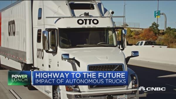 Driverless trucks rev up