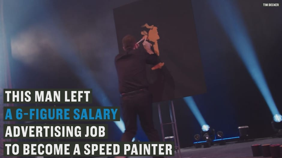 This man quit his 6-figure job to become a 500k painter