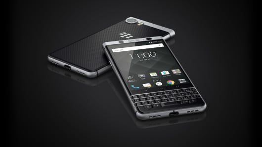 The BlackBerry KEYone made by TCL Communications.