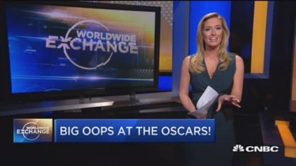 Big oops at the Oscars