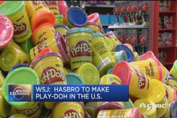 Hasbro to make Play-Doh in USA again: WSJ