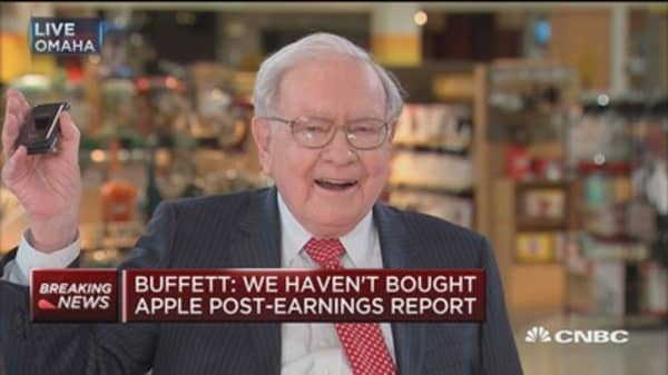 Buffett: We've spent a big chuck of our $20 billion on Apple