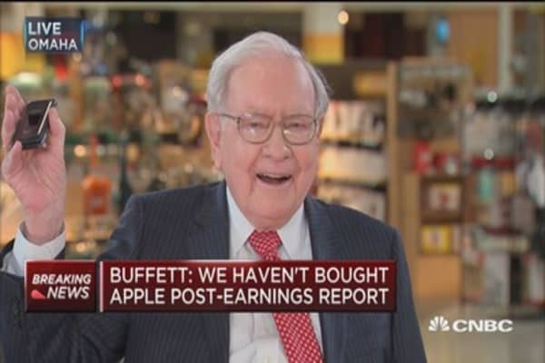 Buffett: We've spent a big chuck of our $20 billion on Apple