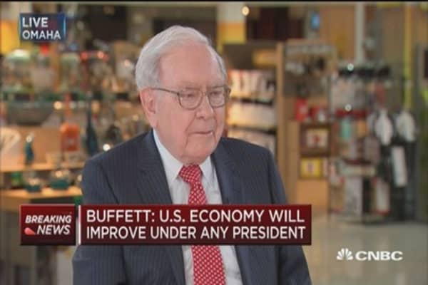 Buffett: Economy will be better off four years from now