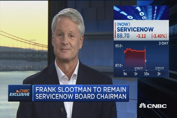 ServiceNow CEO transition