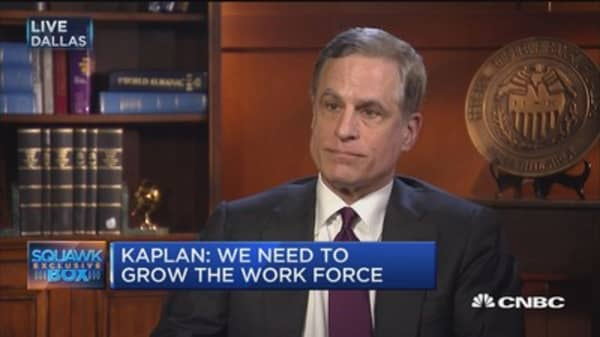 Fed's Kaplan: I look at policies that grow workforce or improve productivity