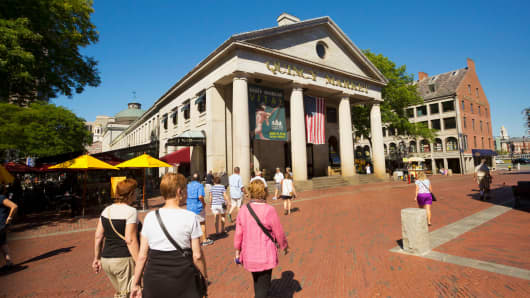 Quincy Market in Boston.