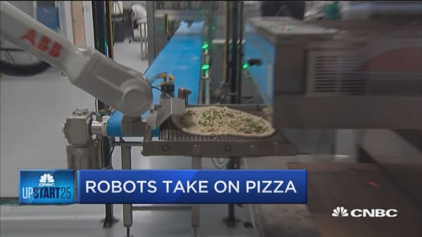 Robots take on pizza