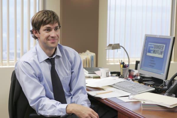 """Episode 5 of """"The Office,"""" John Krasinski as Jim Halpert"""