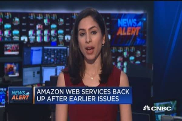Amazon Web Services back up after earlier issues