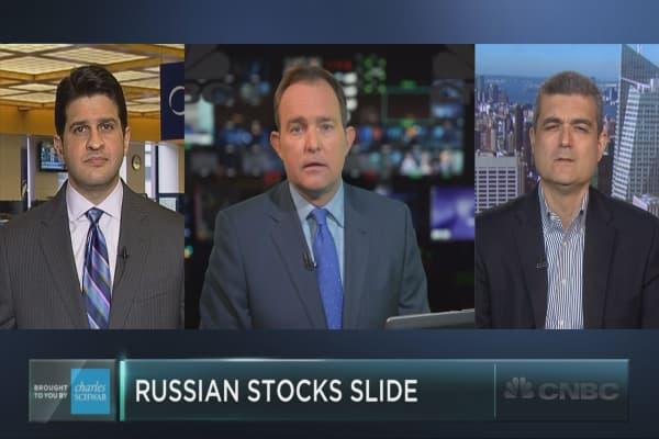 Russian stocks tumble