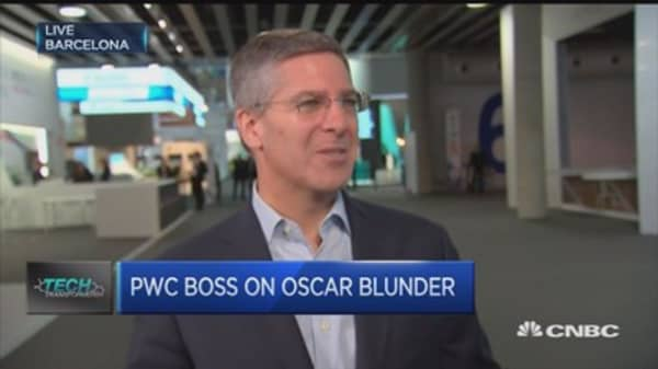 We take responsibility for Oscars mix up: PWC chair