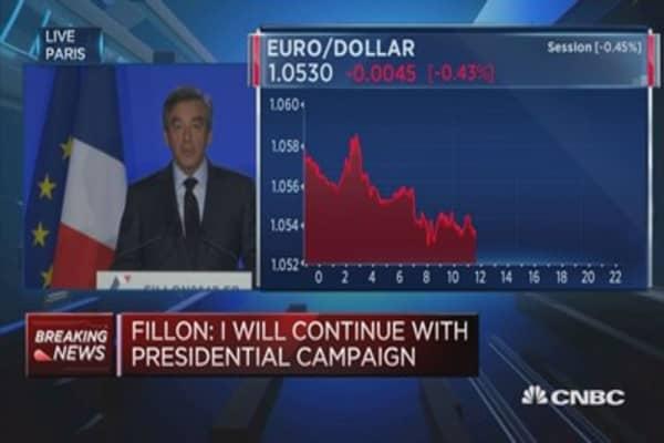 I will continue with presidential campaign: Fillon