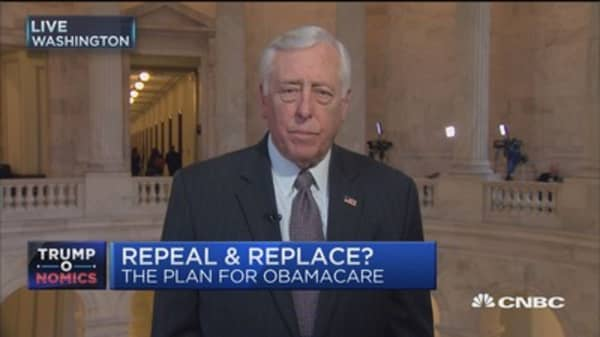 Rep. Hoyer: Got 'happy talk' from Trump but not realistic talk on ACA reform