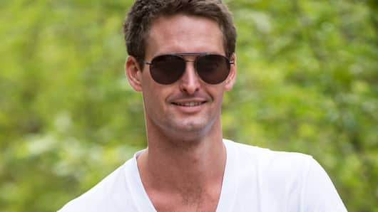 Evan Spiegel, co-founder and chief executive officer of Snapchat.