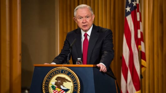 U.S. Attorney General Jeff Sessions on February 28, 2017 in Washington, D.C.