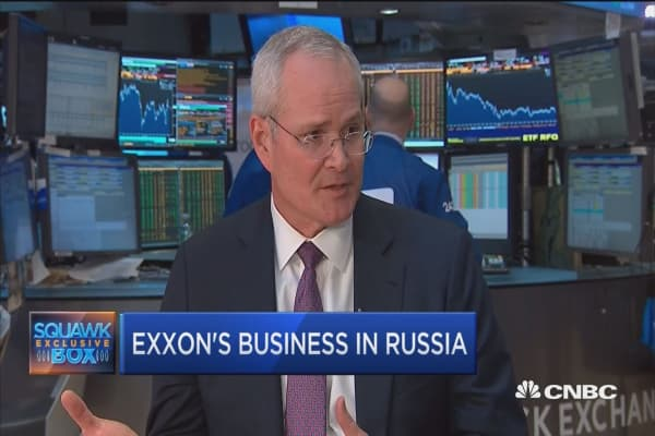 Exxon CEO: Sanctions have us at a standstill in Russia