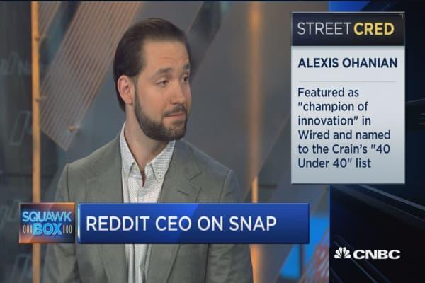 Reddit co-founder 'very bullish on Snap'