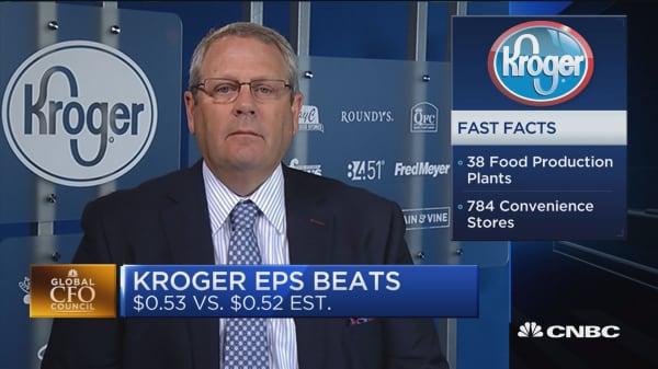 Kroger CFO: We've experienced deflation again this quarter