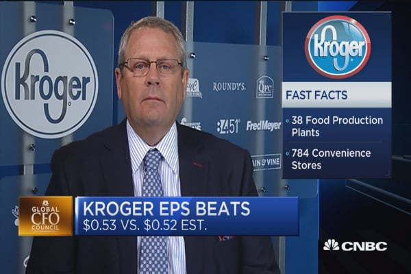 Kroger CFO: We've experienced deflation again this quarter