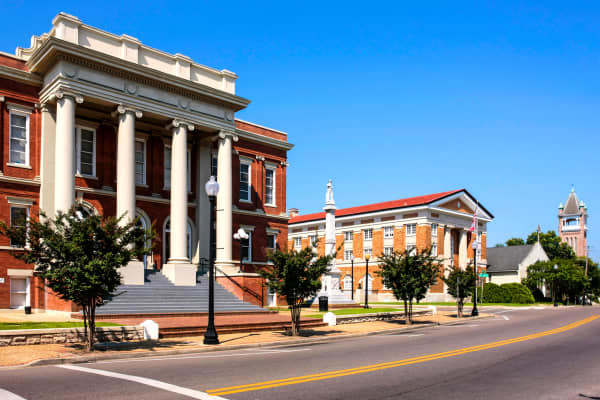 The historic district of Hattiesburg, Mississippi