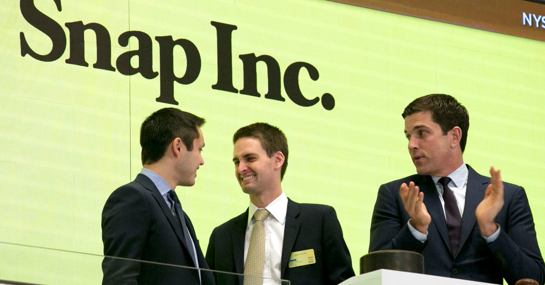 Snap just went public heres how an ipo actually works snapchat co founders bobby murphy left and ceo evan spiegel center buycottarizona Image collections