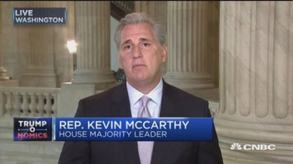 Rep. McCarthy: Trump's speech brought me to tears