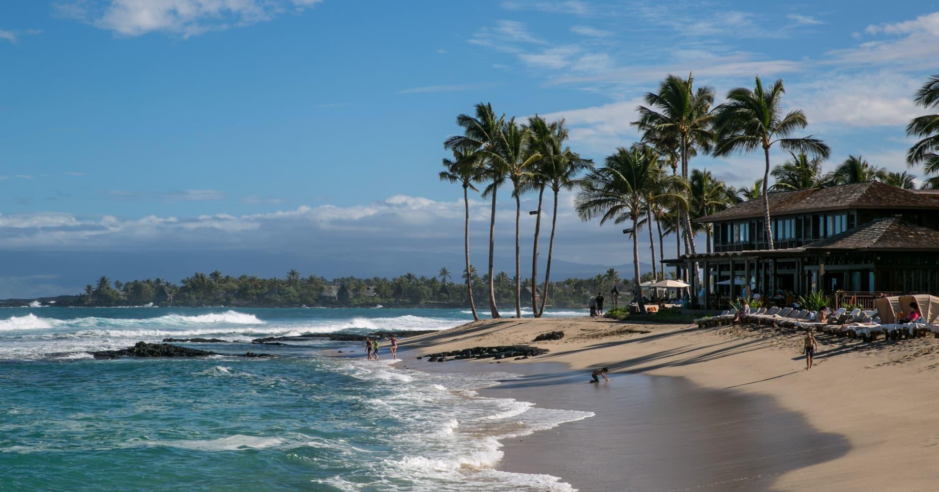 A beach along the Kona Kohala Coast, Hawaii.