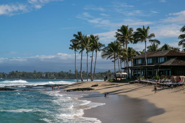 A beach along the Kona Kohala Coast, Hawaii.