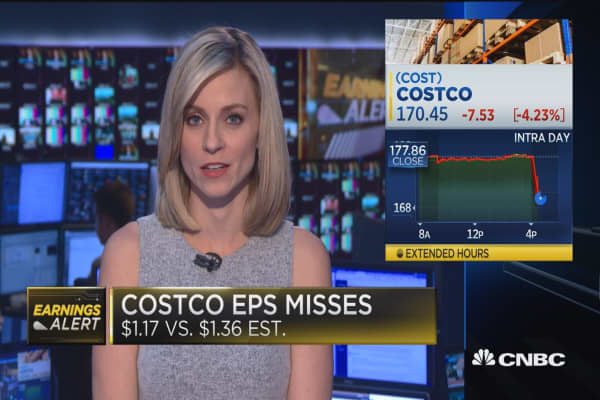 Costco misses on top & bottom lines