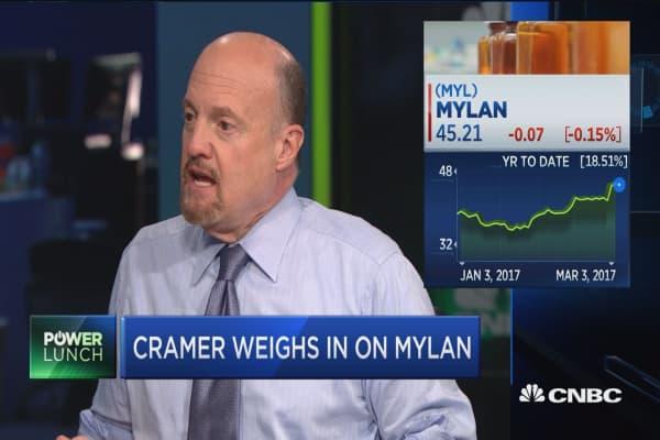 Cramer weighs in on Mylan