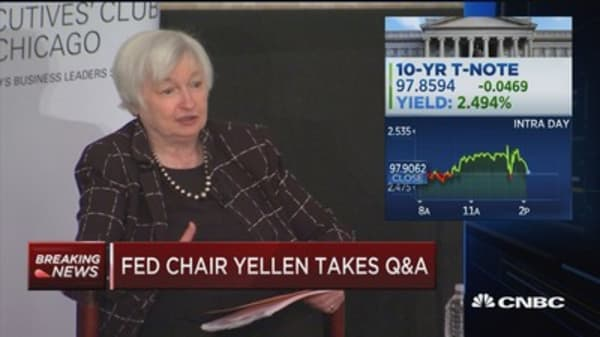 Yellen: Certainly I would not of said in high school that I expected to be an economist